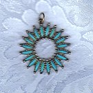 PRICES SLASHED-UNSIGNED BEAUTY TURQUOISE VINTAGE PENDANT