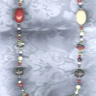 PRICES SLASHED-VINTAGE MULTICOLOR BEADED LONG NECKLACE