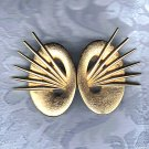 PRICES SLASHED-UNSIGNED BEAUTY VINTAGE GOLDTONE EARRINGS