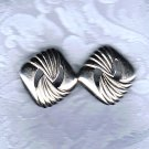 PRICES SLASHED-TRIFARI DESIGNER SIGNED SILVERTONE OPEN TWIST VINTAGE EARRINGS