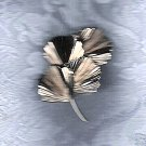 PRICES SLASHED-GINGKO GINKGO VINTAGE TEXTURED BROOCH PIN