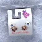 PRICES SLASHED-LIBBY LU VINTAGE GIRLS RHINESTONE BUTTERFLY AND STUD STONE EARRINGS
