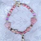 PRICES SLASHED-VINTAGE PINK RIBBON BEADED BREAST CANCER AWARENESS BRACELET