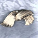 PRICES SLASHED-POT METAL VINTAGE FAUX PEARL BROOCH PIN 1930-1950