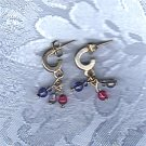 PRICES SLASHED-VINTAGE THREE BEAD SILVER HORSESHOE EARRINGS