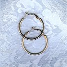 PRICES SLASHED-VINTAGE MEDIUM HOOP SILVERTONE POST EARRINGS