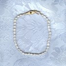 ESTATE WHITE BIWA PEARL BRACELET