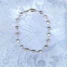 ESTATE FRESH WATER SILVER GRAY PEARL BRACELET