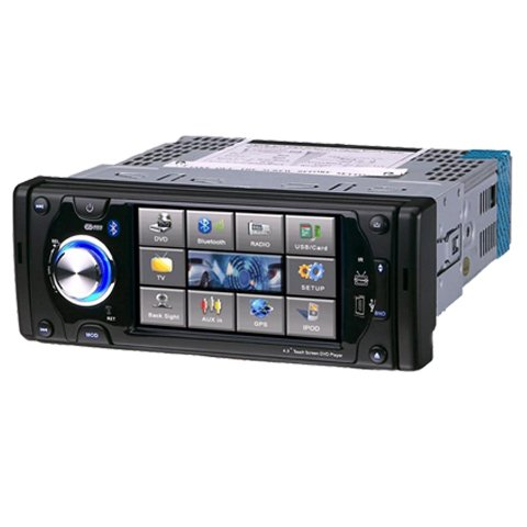 4.3 Inch 1 Din In-Dash Car DVD Player HL-4386 without GPS