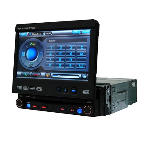 1 Din DIGITAL Touch Screen Panel Car DVD Player HL-7701GB without GPS