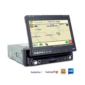 1 Din IN-DASH 7 INCH TFT WIDESCREEN Car DVD Player AL-8013GL With GPS