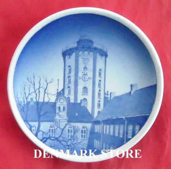 Round Tower Rundetarn Vintage Danish Aluminia Royal Copenhagen Mini Plate 8 2010