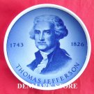 Danish Aluminia Royal Copenhagen Mini Plate THOMAS JEFFERSON
