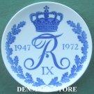 Vintage Royal Copenhagen Denmark King Frederik IX Plate 1972