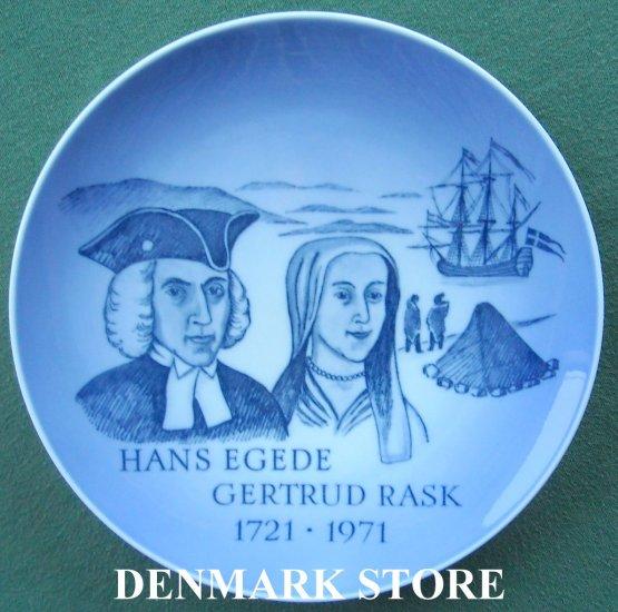 Royal Copenhagen Denmark Memorial Plate 1971