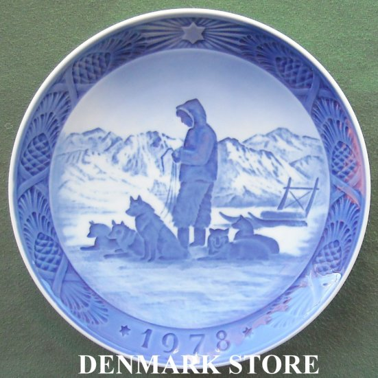 Danish Royal Copenhagen Denmark Christmas Plate 1978
