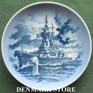 Vintage Danish Royal Copenhagen Denmark USS New Jersey battleship plate