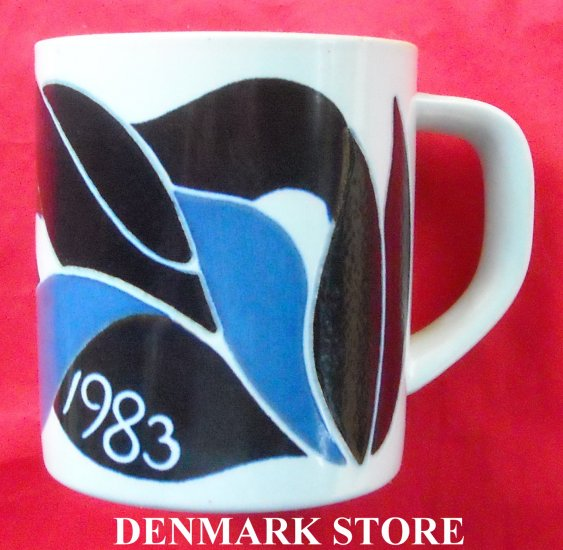Danish Royal Copenhagen Denmark Large Annual Mug 1983