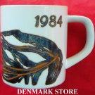 Danish Royal Copenhagen Denmark Large Annual Mug 1984