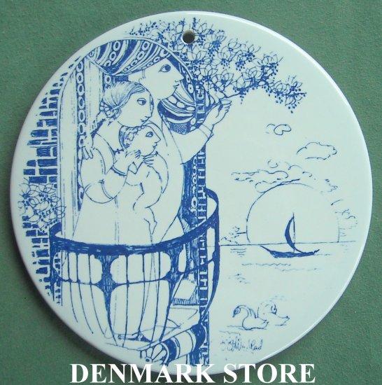 Danish Bjorn Wiinblad Nymolle Daybreak Morning Wall Plate Blue
