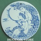 Danish Bjorn Wiinblad Nymolle Twilight Wall Plate Blue