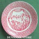 Danish Bjorn Wiinblad Nymolle L Opera Small Plate Dish Red
