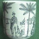 Rare danish Virgin Islands Nymølle small vase cup black