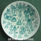Danish Poul Høyrup Nymølle art fajance small plate dish green