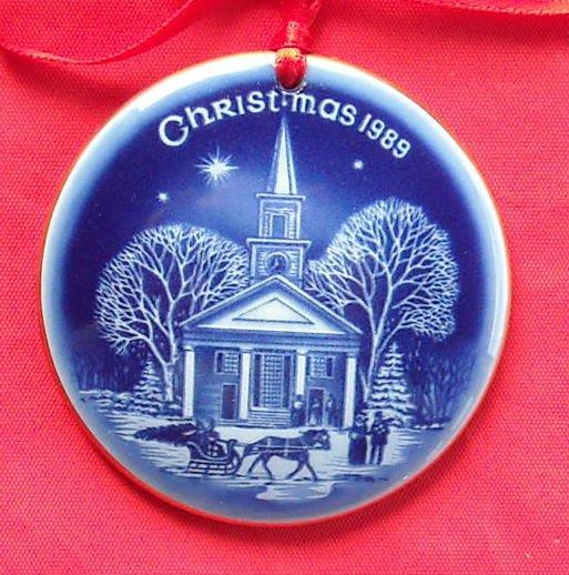 Bing & Grondahl Copenhagen Denmark Christmas In America Ornament 1989