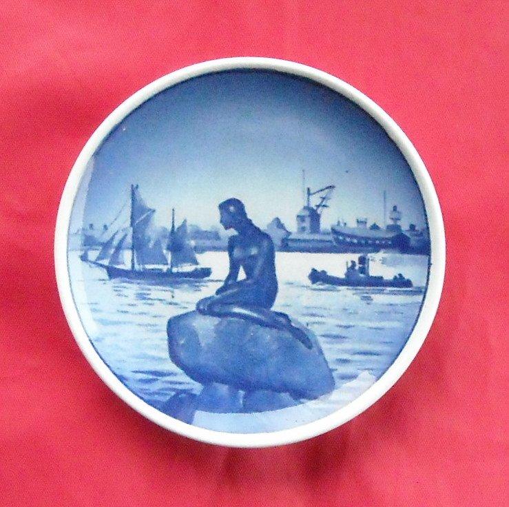 Little Mermaid Langelinie Vintage Danish Aluminia Royal Copenhagen plate 2 - 2010