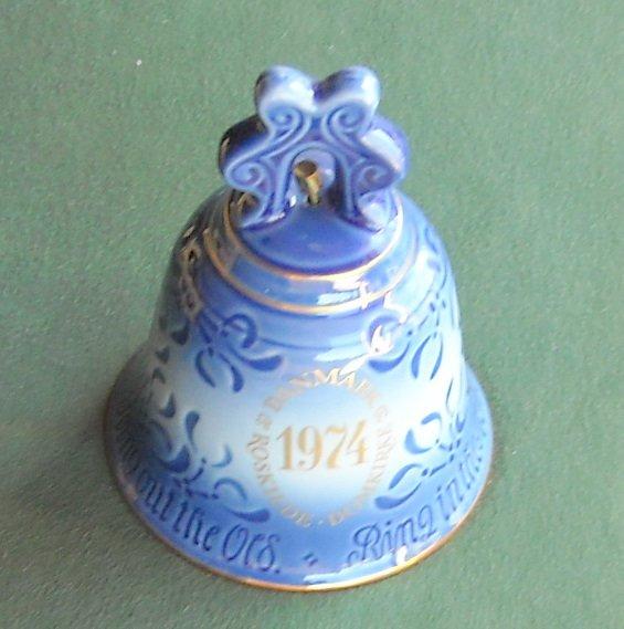Danish Bing & Grondahl Copenhagen Year Bell Roskilde Cathedral First Edition