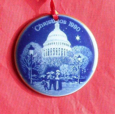 Bing & Grondahl Copenhagen Christmas in America The Capitol ornament 1990