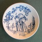 Garden Party Danish Bjorn Wiinblad Nymolle Small Plate Dish Blue