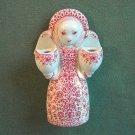 Vintage Danish Jacob E Bang Nymolle Angel Candleholder Red