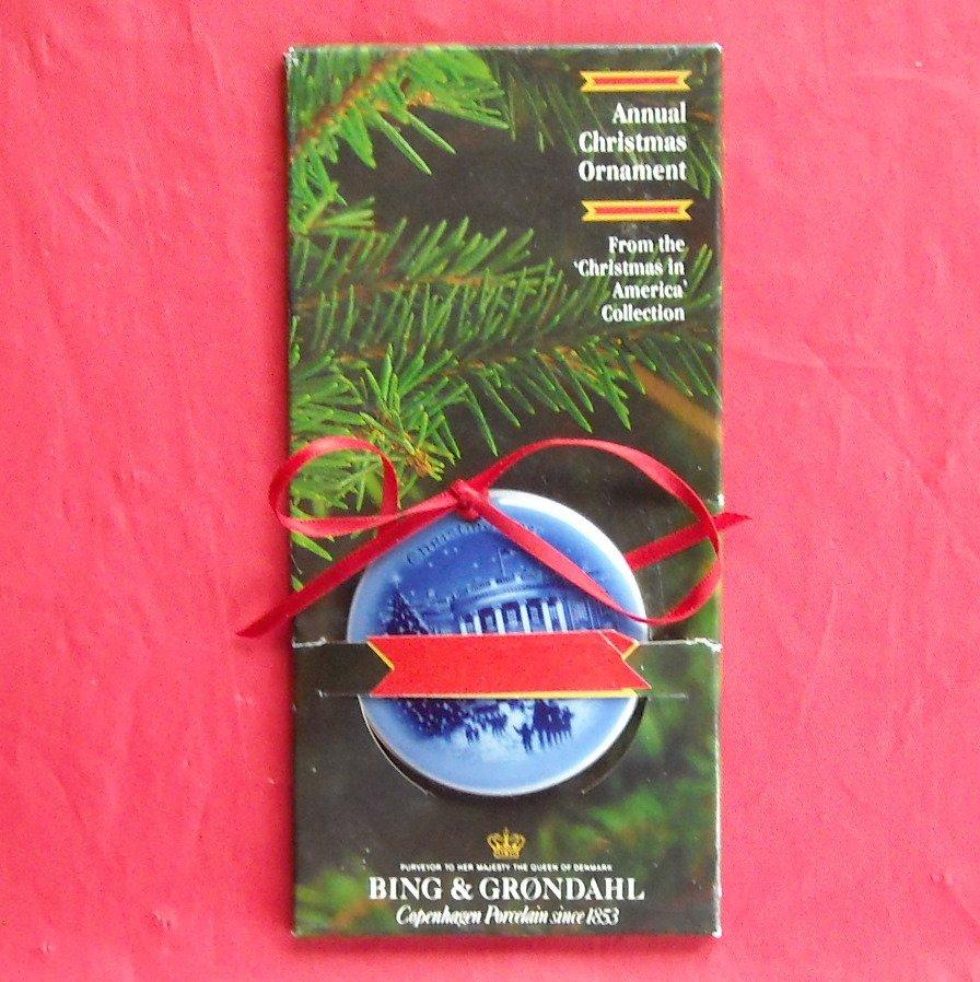 The White House Bing & Grondahl Copenhagen Christmas In America Ornament 1987
