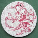 Danish Bjorn Wiinblad Nymolle March wall plate red