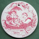 Danish Bjorn Wiinblad Nymolle July wall plate red