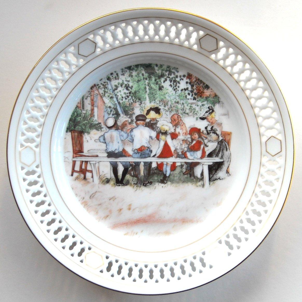 Danish Bing Grondahl Carl Larsson First North American Edition plate 2 1978