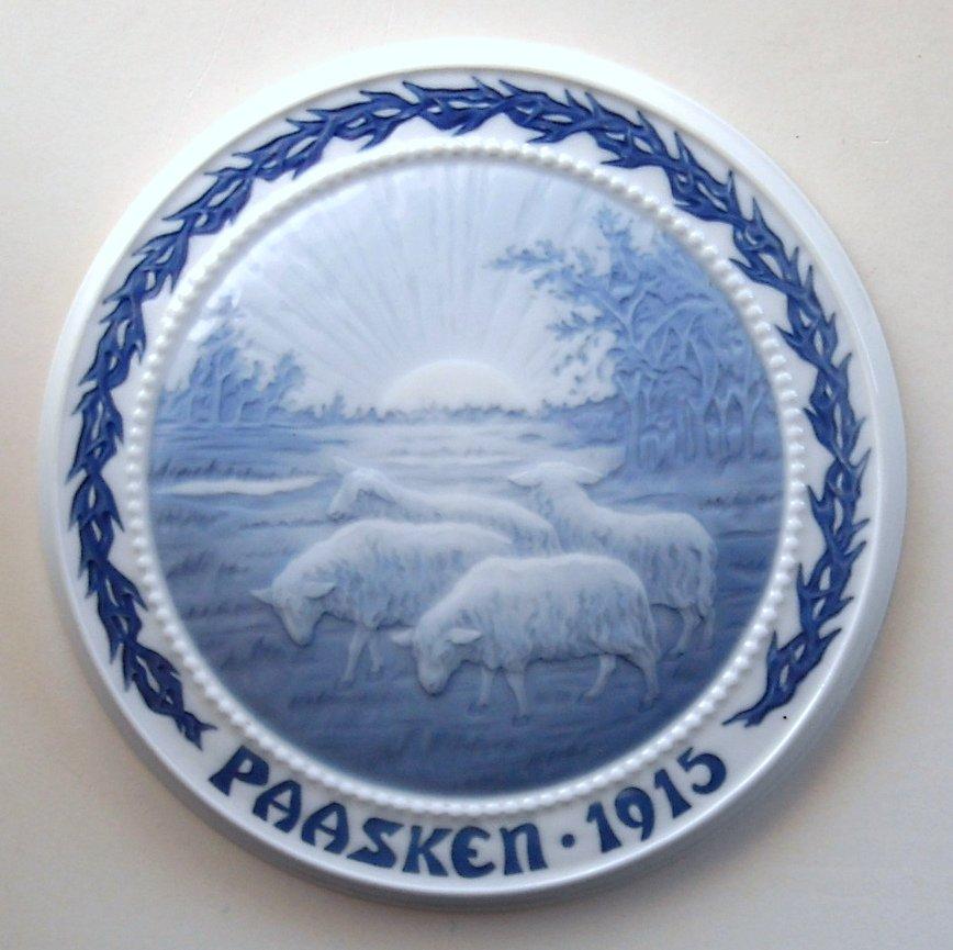Bing & Grondahl Royal Copenhagen B&G Paasken Easter Plate 1915