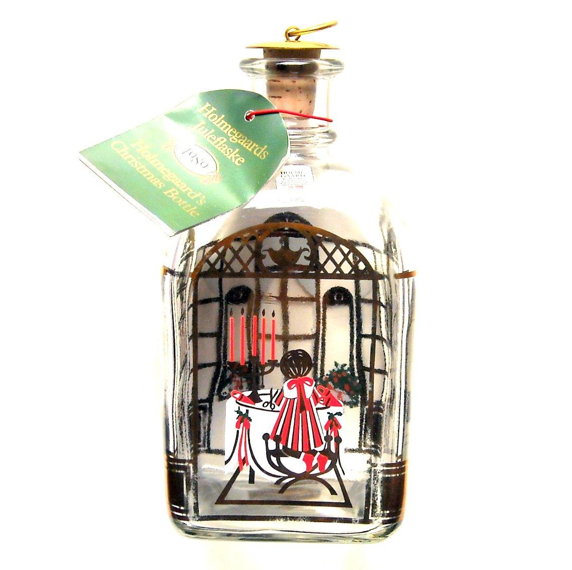 Holmegaard Danish Royal Copenhagen Christmas Bottle 1989