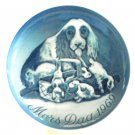 Mother's Day Plate Bing & Grondahl Denmark First Edition Cocker Spaniel 1969