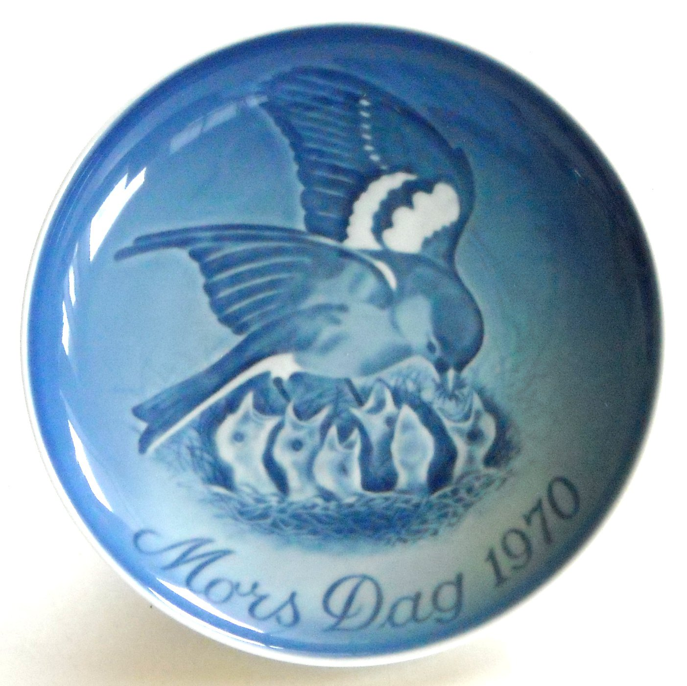 Bing & Grondahl Denmark Sparrow Chicks Mothers Day Plate 1970