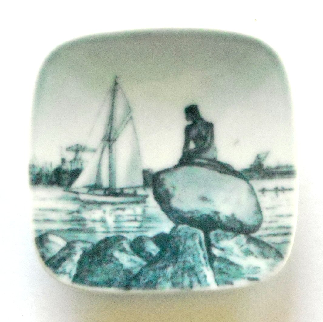 Little Mermaid Langelinie Bing & Grondahl Copenhagen Small Plate Ornament
