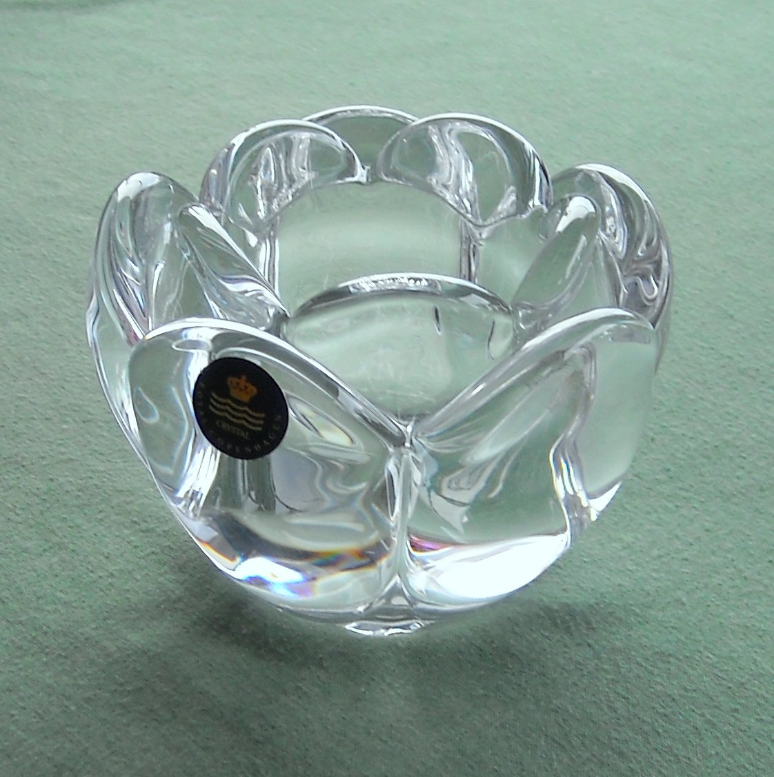 Danish Holmegaard Lotus Flower Candle Holder Medium