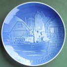 Danish Bing & Grondahl Copenhagen Welcome Christmas Plate 1976