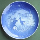 Bing & Grondahl Copenhagen Christmas In The Woods Plate 1980