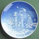 Bing & Grondahl Copenhagen Christmas Letter Plate 1984