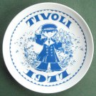 Danish Tivoli Denmark Plate KONTROLLOREN 1977