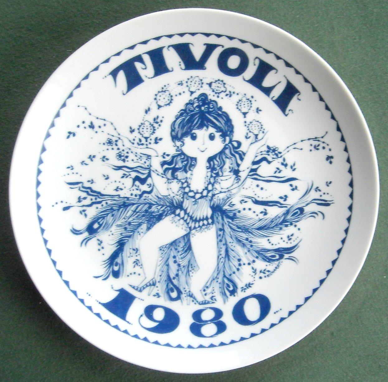Danish Tivoli Denmark Plate ARTISTEN 1980