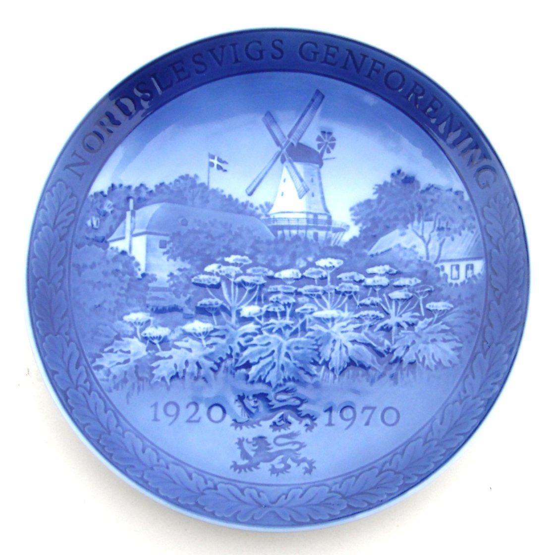 Royal Copenhagen Denmark Dybbol Mill Nordslesvigs Reunification Plate 1970